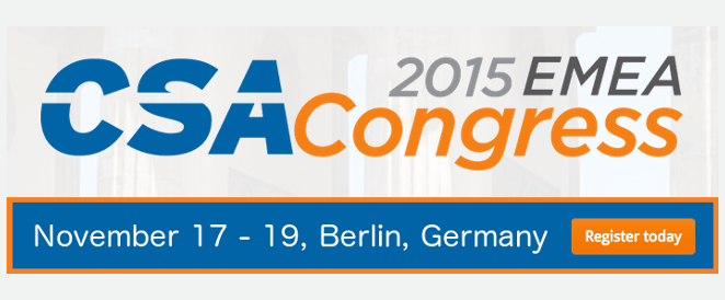 Register for CSA Congress EMEA 2015