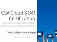 CSA Cloud STAR Certification