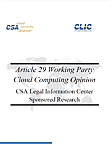 Article 29 Working Party Cloud Computing Opinion: A Blow to Safe Harbor