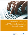 CSA Position Paper on AICPA Service Organization Control Reports