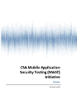 Mobile Application Security Testing Initiative Charter