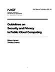 NIST Guidelines on Security and Privacy in Public Cloud Computing