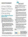 What CISOs Need to Know About Cloud Computing | Summary