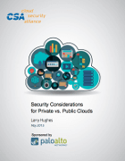 Security Considerations for Private vs. Public Clouds