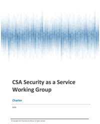 Security as a Service Working Group Charter
