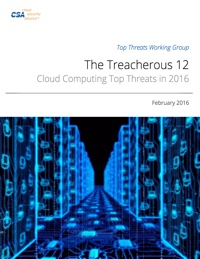 'The Treacherous Twelve' Cloud Computing Top Threats in 2016