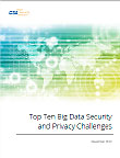 Top Ten Big Data Security and Privacy Challenges