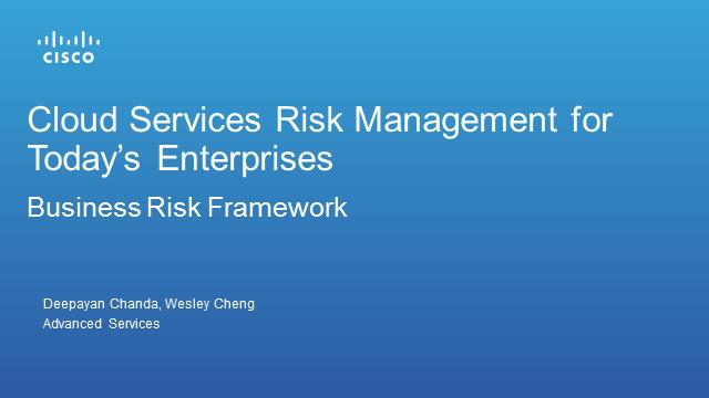 Cloud Services Risk Management